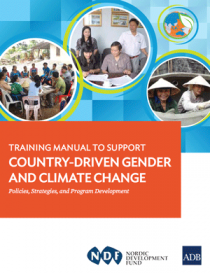 Training Manual to Support Country-Driven Gender and Climate Change Cover